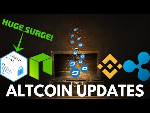 HUGE Chainlink Surge! Dash, NEO, Ripple, and Binance Coin - Altcoin Update
