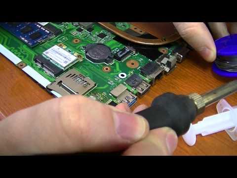 ноутбука: пайка микросхемы