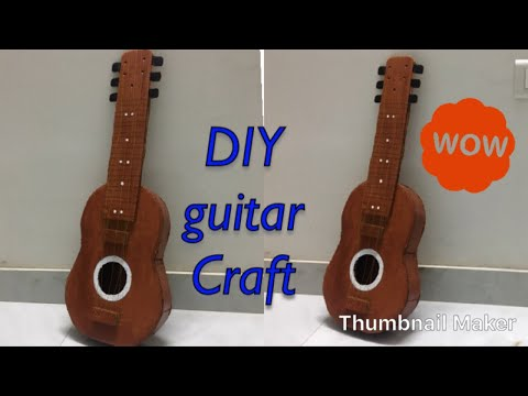 How to make guitar/DIY guitar/Craft guitar