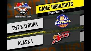 PBA Philippine Cup 2018 Highlights: TNT vs. Alaska Dec. 29, 2017