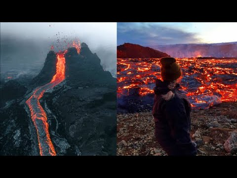 Rivers of Lava !! Volcanic eruption in Iceland!