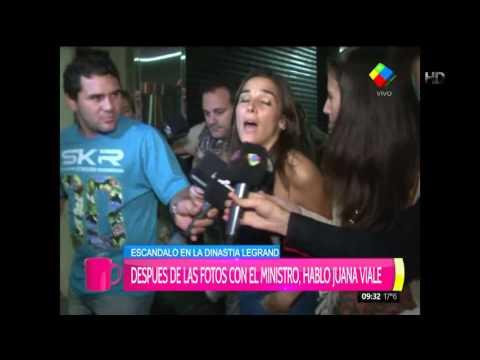 Juanita Viale habló solo de su trabajo y destiló ironías con las prensa