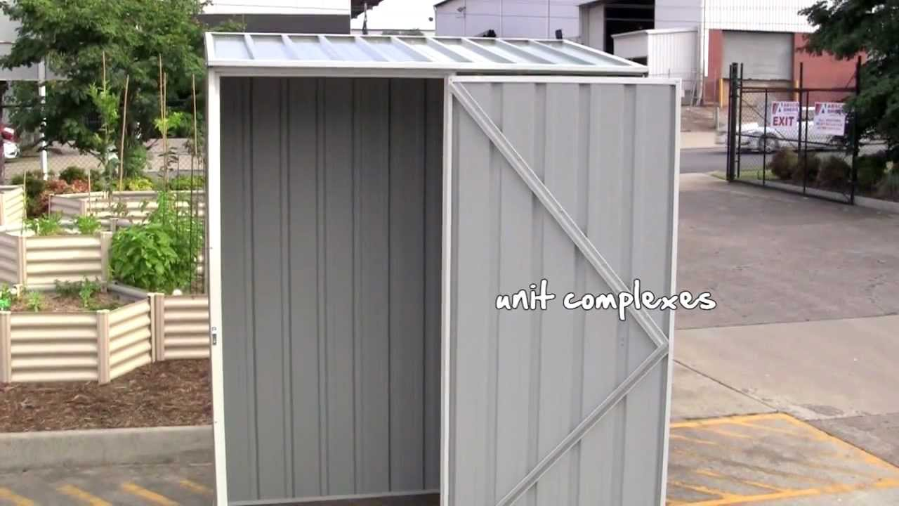 Cheap sheds absco spacesaver shed youtube for Inexpensive sheds
