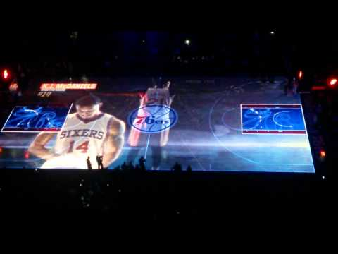 Sixers 3D court projection