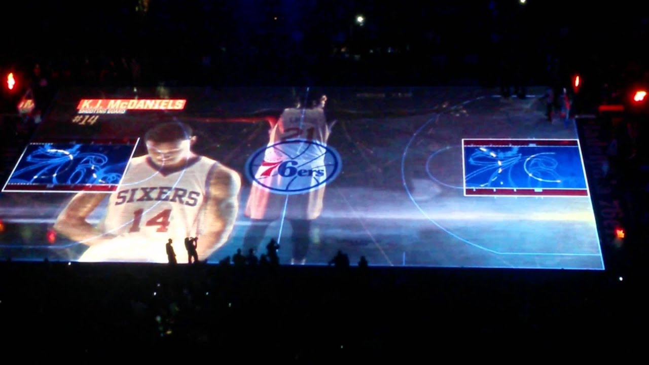 Sixers 3D court projection  YouTube