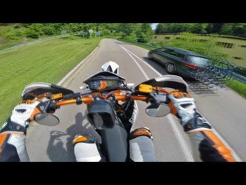 Supermoto on limit? // RAW 21 // KTM SMC R 690 // Sumo fighters // Wheelie // Race // Schwarzwald