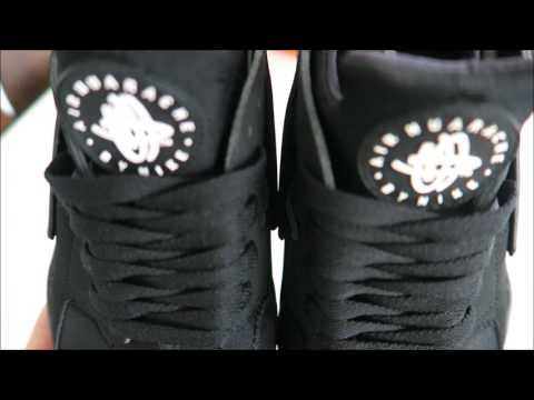 HD Close Up Nike Air Huarache Triple Black