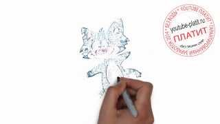 Нарисованные коты  Как нарисовать голубого покусанного кота поэтапно карандашом