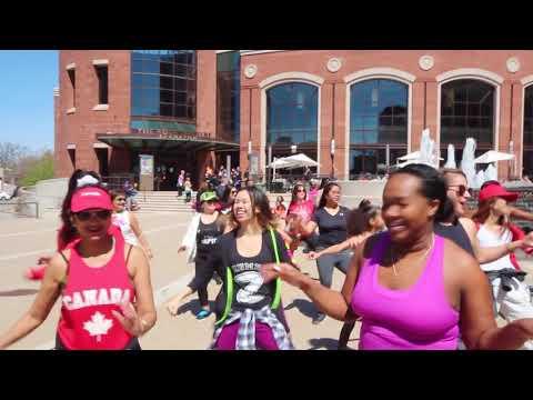 ZUMBA FLASH MOB Offical Canada 2017 HULA HOOP ZUMBA FLASH MOB ACROSS CANADA !!!