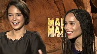Zoe Kravitz Courtney Eaton Funny INTERVIEW Mad Max: Fury Road Five Wives Cast Hot Funny CARJAM TV HD