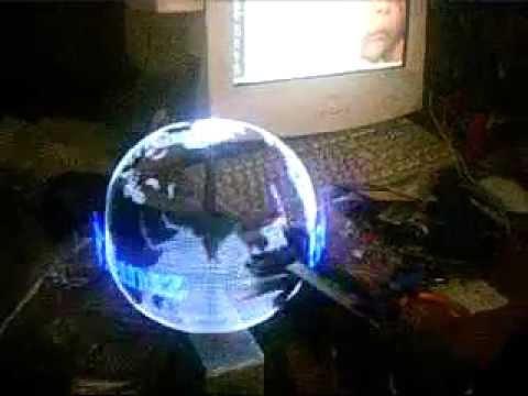 3d Led Display Globe Youtube