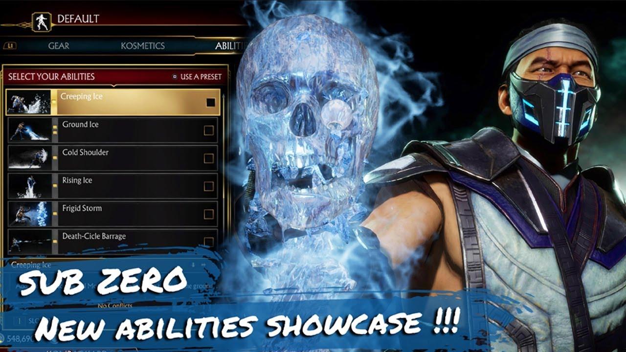 Mortal Kombat 11 Sub Zero All New Abilities Showcase Youtube