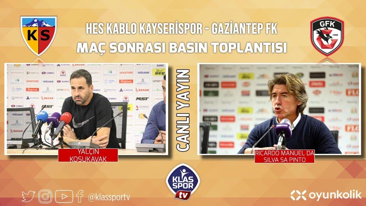 Kayserispor - Gaziantep Basın Toplantısı ᴴᴰ (CANLI)