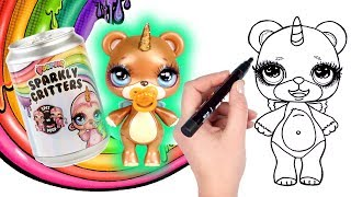 How to Draw Poopsie Critter Sugar | Poopsie Sparkly Critters Slime Surprise Opening and Drawing
