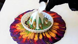 Acrylic Pouring MULTI-COLOR JUICY TOP! 14 Colors / Unusual Designs!