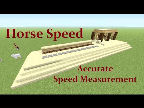 Minecraft Tutorial : Horse Speed Test