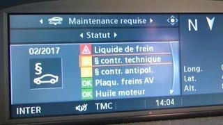 Remise a zéro voyants de maintenance contrôle technique BMW E90