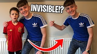 INVISIBLE PRANK ON LITTLE BROTHER!! *ALMOST CRIES*