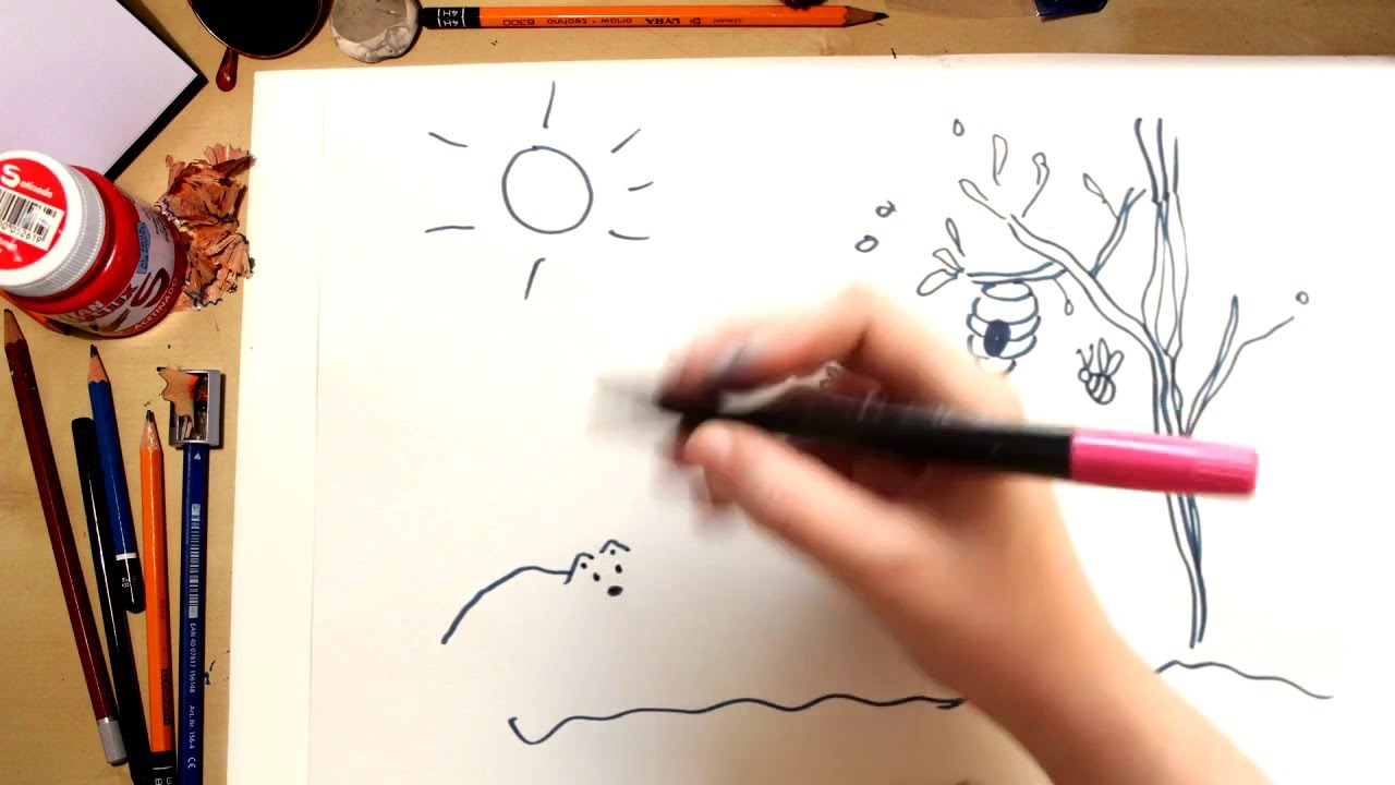 como dibujar una colmena dibujos para nios youtube