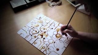 Cómo hacer un dibujo a base de circulos. Arte abstracto.