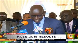 The announcement of KCSE Results 2018 [PART 3]