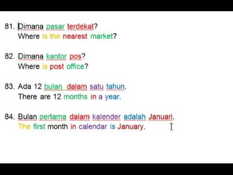 Indonesian For Beginners - Lesson 11