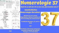 Ganzheitliche Numerologie - die Zahl 37