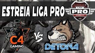 DETONA ESTREIA HOJE na Liga PRO + Resumo MD3 AORUS League vs C4 Gaming