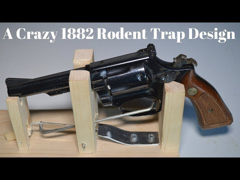 """A Crazy 1882 Rodent Trap Design. """"The World's Luckiest Rat"""""""
