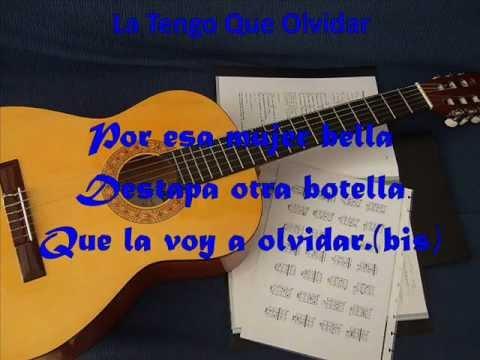 LA TENGO QUE OLVIDAR, DARÍO GÓMEZ, LETRA (VÍDEO 55)