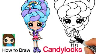 How to Draw a Roller Skate Rainbow Cute Girl | Candylocks Doll