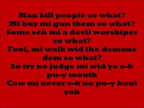 Tommy Lee - So What Lyrics