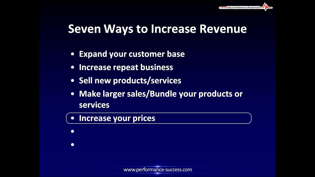 How to increase revenue 19