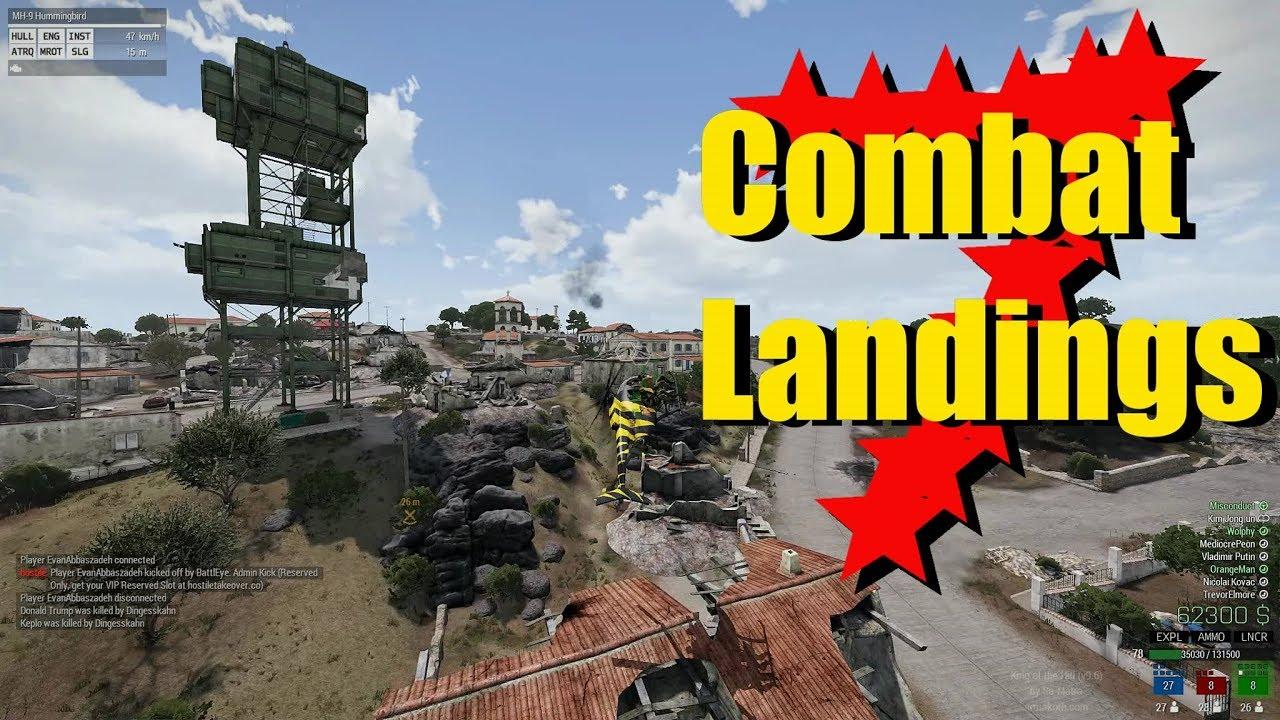 Arma 3 KOTH Best Pilot Moments: Combat Landings 7