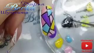 простой и быстрый дизайн ногтей для начинающих мастеров  Абстрактный дизайн ногтей  Абстракция на но