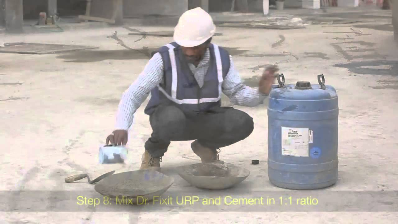 Waterproofing Solutions Dr Fixit Waterproofing For New Roofs Youtube