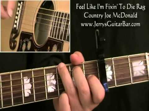 How To Play Country Joe McDonald Fixin' To Die Rag (full Lesson)