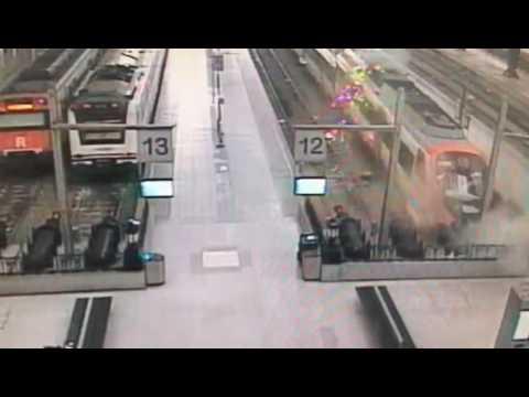 barcelona train crash security camera