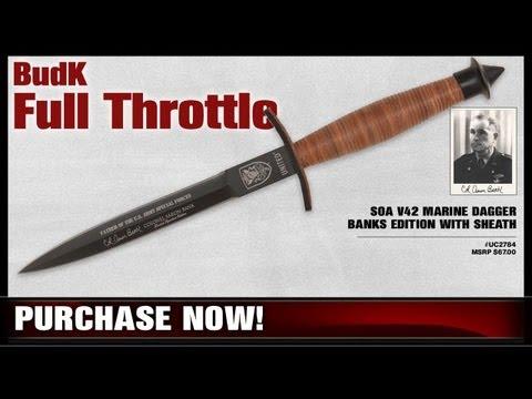 SOA V42 Marine Dagger Banks Edition with Sheath - $24.98