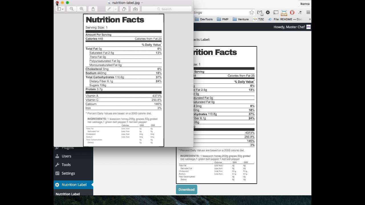 nutrition facts template excel koni polycode co