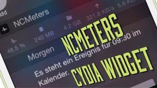 NCMeters   NC Widget mit ANzeige der CPU AUslastung, freier Speicher, uvm - Cydia Tweak