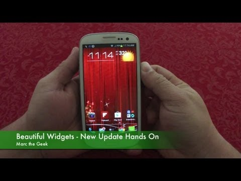 Beautiful Widgets - New Update Hands ON For Android Phones & Tablets