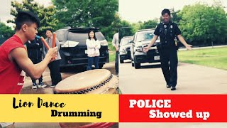 Lion dance jam session interrupted by the police