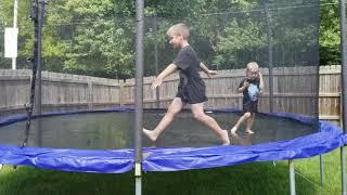 Slippery Wet Fun on the Trampoline! 💦🏖💦🏖💦