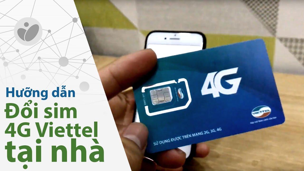 Hướng dẫn mua phôi sim 4G Viettel - Tự đổi sim ở nhà