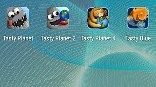 Tasty Planet, Tasty Planet 2, Tasty Planet 4,Tasty Blue - all parts. Android games on the passage.