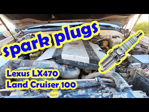 Spark plug replacement on Land cruiser 100 series LX470 and all Toyota 2UZ engines
