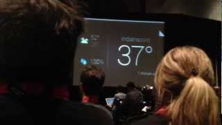 Google Glass UI, Weather and Google Cards Demo at SXSW 2013 Part 1