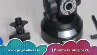De Bestuurbare IP camera met WIFI van Prijsbulkers.nl
