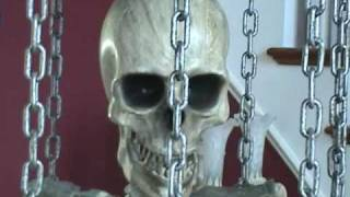 Life Size Animated Caged Skeleton with Stand  www.doll-lovers-paradise.com